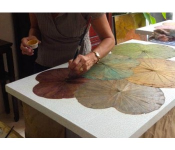 Lotus Leaves Painting workshop I